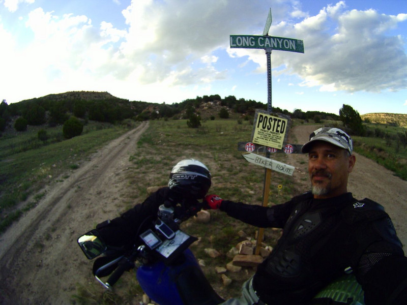 The one and only Trans-America Trail sign in N.E. New Mexico
